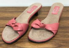 Aerology by Aerosoles Watermelon Leather Shoes Slide On Size 9 New   II560