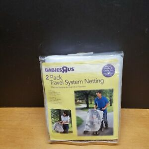NIP 2 Pc Netting For Stroller/Jogger and Carrier - Elastic Edges - w/Storage Bag