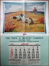 "Hunting Dogs 1960 Advertising Calendar / 31"" x 42"" Poster - Walter M. Baumhofer"