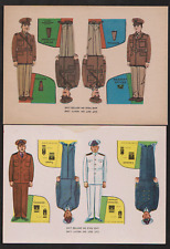 8 WWll 1942 PAPER SOLDIERS,CUT OUT & STAND ALONE, ARMY & NAVY MEN, ALL DIFF  T25