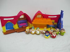 FISHER PRICE LITTLE PEOPLE SNOW WHITE COTTAGE MUSICAL ORGAN FIGURES DWARFS CUTE