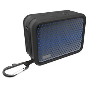 Portable iHome IBT7 Waterproof Bluetooth Stereo Speaker + Carabiner