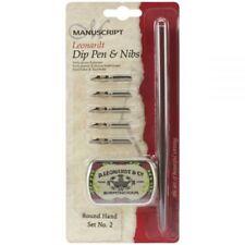 Manuscrito Cursiva /& Cartel Set DIP sostenedor de la pluma caligrafía 11 Nibs /& Caja De Almacenamiento