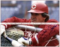 "Pete Rose- Cincinnati Reds Signed Hit King Photo Poster (11""x14"")"