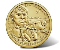 2018 D Sacagawea Native American Dollar US Mint Coin BU Jim Thorpe