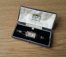 Ladies Vintage White & Yellow .750 18ct Gold Rolex Prima + Retailers Box