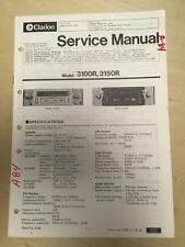 Clarion Service Manual for the 3100R 3150R Cassette Radio Car Stereo      mp