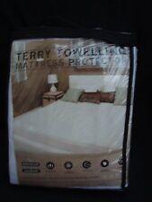 Terry éponge matelas protecteur-Double 140x190cm (profondeur 30 cm)