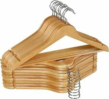 Wooden Hangers Pack of 20 & 80 Suit Hangers Premium Natural Finish Utopia Home