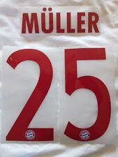 Bloque de nombre de identificación Deportivos & Juego De Impresión Camisa número Bayern Munich Muller 25 Rojo