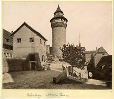 Deutschland, Nürnberg, Schloss Thurm  Vintage albumen print. Vintage Germany