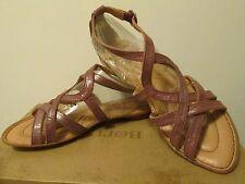 Born Crown Lark Romano rosa púrpura malva Gladiador Sandalia con Tiras Talla 8 Nuevo
