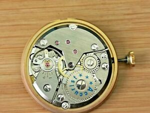 Vintage Accurist (Peseux Cal 7066) Mens 21 Jewels Date Watch Movement, Working