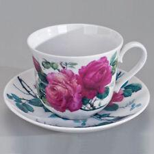 Jumbotasse mit Unterteller English Rose Teetasse, Kaffeetasse Roy Kirkham 296672