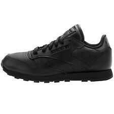 Reebok Classic Leather Juniors J90142 Black Shoes Big Kids Sneakers Youth Sz 7