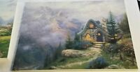 THOMAS KINKADE OIL ON CANVAS 18X24 SWEETHEART COTTAGE III 3