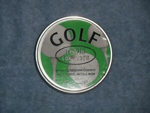 "1997 GOLF TRIVIA COASTERS 3-1/2"" Set of 12 New in Box Golf Souvenir Memorabilia"