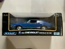 Welly 1968 Chevrolet Chevelle SS 396 Blue1:18 scale NIB - See Pics