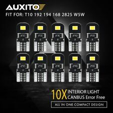 Canbus 10Pcs Super White T10 Wedge 6SMD 5630 LED Light bulbs W5W 2825 158 192