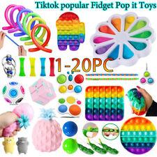1-20Stk Popit Fidget Sensory Toy Autismus SEN ADHS Stressabbau Spielzeug Kids DE