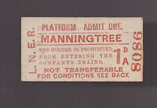 L.N.E.R  Platform Ticket - Manningtree  - Dated 1953