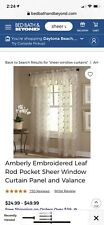 Curtain lot 4 Panels And 4 Valances Nearly New