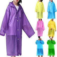Adults Kids Hooded Raincoat Waterproof Rain Coat Outdoor Camping Hiking Jacket