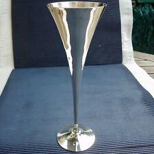 Verre Prières Epais Métal Argenté Belle Fabrication Luxe 23,5 x 8 x 7 Cm 273 Grs