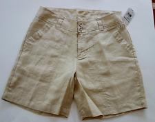 FRESH PRODUCE Linen Shorts WASHED KHAKI Women size 6 NWT msrp $65