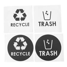4pcs General Waste Only Recycle Trash Bin Logo Stickers Recycling Logo Sign