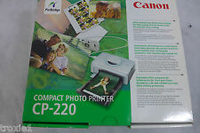 Canon CP-220 Digital Photo Card Photo Printer New In Box Missing 1of 2 Trays