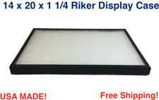 14 X 20 X 1 14 Riker Display Case Box For Collectibles Jewelry Arrowheads