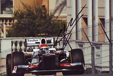 Sergio Perez - Sauber autograph - Signed 8X12 Inches F1 2012 Monaco GP Photo