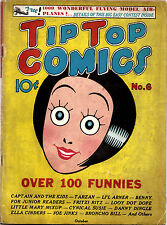 TIP TOP COMICS #6 (United Features) Classic Ella Cinders cover ..RARE Key 1936!