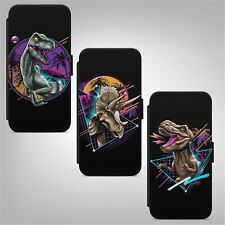Dinosaur Tyrannosaurus FLIP WALLET PHONE CASE COVER FOR IPHONE SAMSUNG HUAWEI
