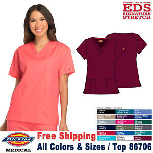 Dickies Scrubs EDS SIGNATURE Women's Classic Fit V-Neck Top 86706