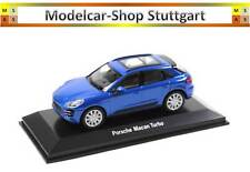2015 Porsche Macan Turbo saphir bleu - WELLY 1:43 - MAP01995015 - Neuf Usine