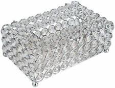 Crystal Tissue Box Cover Holder Rectangular Decorative Napkins Container Holder