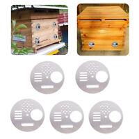 Stainless Steel Bee Hive Box Entrance Gate Nest Door Entrance Beekeeping Tool KV