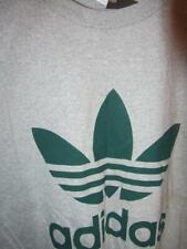 Vintage NWT Adidas Trefoil T-shirt  ash grey w/ green sz mens Large