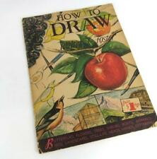 How to Draw by Walter Frost Butterflies Flowers Trees Shrubs Boats Animals More