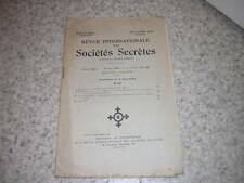 1929.revue internationale des sociétés secrètes.N°22.franc-maçonnerie