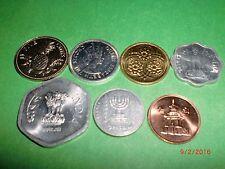 - WORLD COINS - 7 UNC. COINS -BAHAMAS,BELIZE,GUYANA,INDIA-2,ISRAEL,S.KOREA# 7AT5