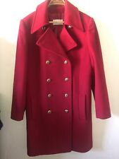 Ladies Windsmoor Coat Wool Cashmere Red Size 16