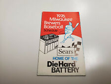 RS20 Milwaukee Brewers 1976 MLB Baseball Pocket Schedule - Sears