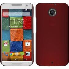 Custodia Rigida Motorola Moto X 2014 2. Gen. gommata rosso