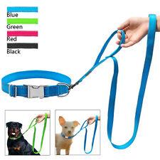 Personalized Dog Collars and Leash Set Nylon Reflective Custom Dog Collars Tags
