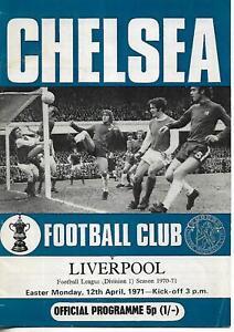 A Vintage Division One programme Chelsea v Liverpool April 1971 vgc