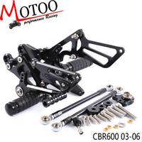 CNC Rearset Rear Set  Peg Pedal Footrest For HONDA CBR600RR 2003-2006 CBR1000RR