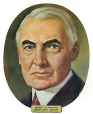 Vtg President Warren G. Harding Die Cut Face Paper Wall Decoration New Old Stock